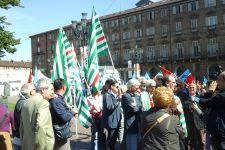 Pensionati manifestazione