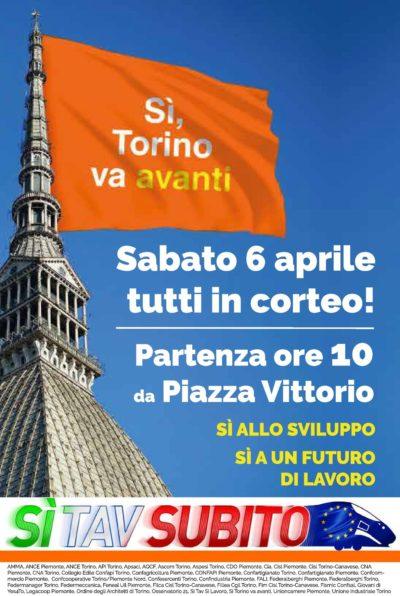 Lo Bianco (Cisl) alla conferenza stampa di presentazione manifestazione Sì Tav del 6 aprile a Torino