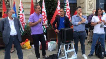 #VertenzaTorino: l'intervento (video) del segretario Cisl Domenico Lo Bianco al presidio dei metalmeccanici