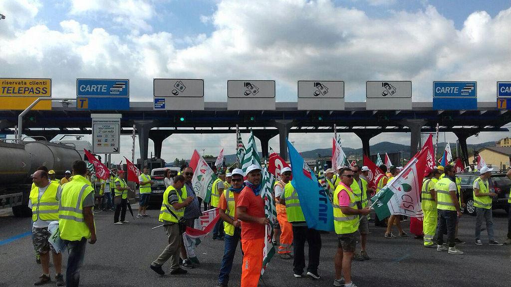 sciopero addetti autostrade Filca Cisl