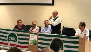 Segreteria Cisl Fp Alessandria Asti con Sergio Melis segretario generale