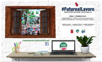 Il 9 febbraio in piazza a Roma per dare #futuroalLavoro!