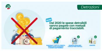 Novità detrazioni: solo pagamenti tracciabili per le spese 2020 da detrarre nella dichiarazione dei redditi 2021!
