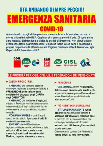 Emergenza covid-19: le richieste sindacali