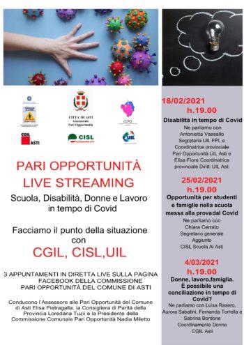 Pari opportunità: il Comune di Asti organizza 3 appuntamenti dedicati