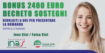 Decreto Sostegni, Bonus 2400 €
