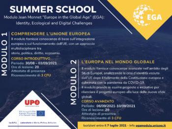"""Università di Alessandria, progetto """"Summer School"""" sull' Europa nell'era globale"""