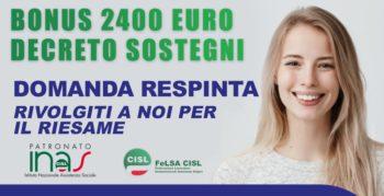 BONUS COVID 2400 € domande respinte, come procedere per il riesame