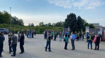 Util di Villanova d'Asti: maestranze in sciopero con presidio ai cancelli