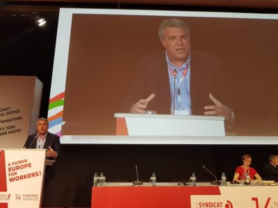 Congresso Ces a Vienna: l'intervento del segretario generale aggiunto Cisl Sbarra