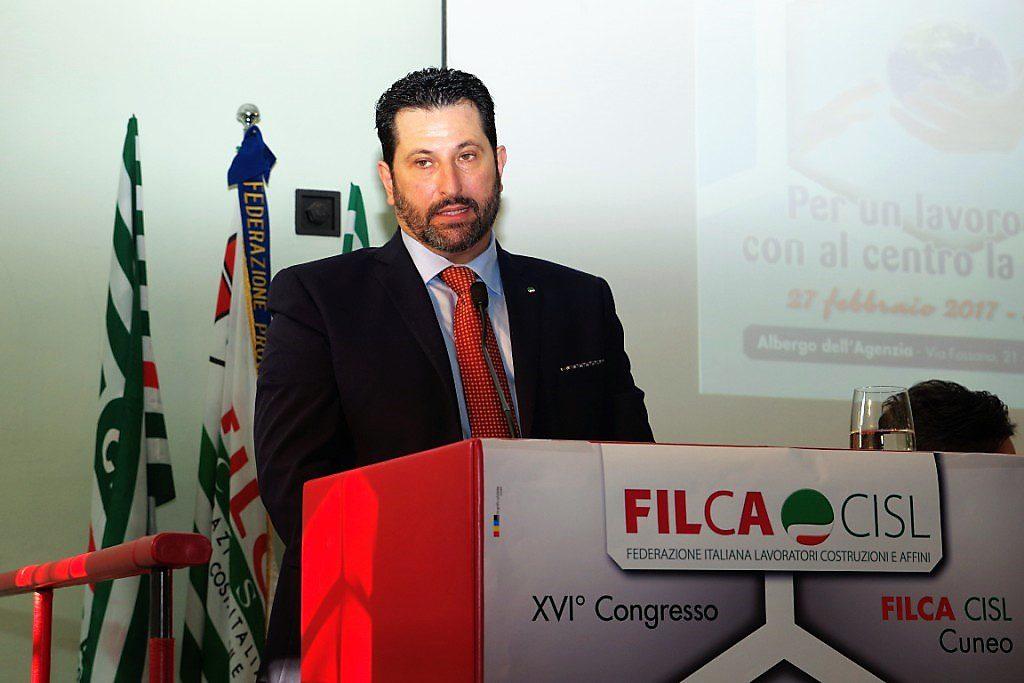 Vincenzo Battaglia Segretario Generale Filca Cisl Cuneo primo piano