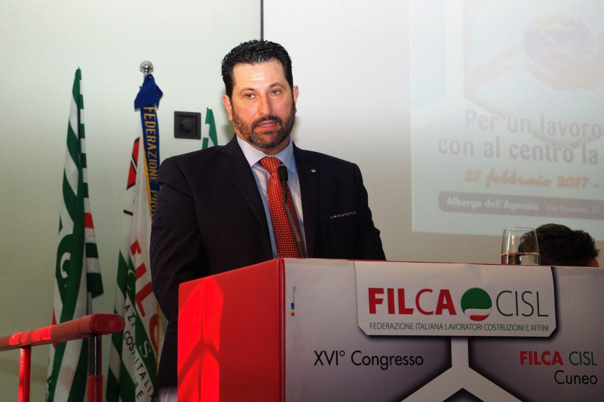 Vincenzo Battaglia - segretario generale Filca Cisl Cuneo