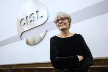La leader Cisl Annamaria Furlan partecipa lunedì 4 dicembre all'assemblea provinciale dei delegati e attivisti della Cisl di Cuneo