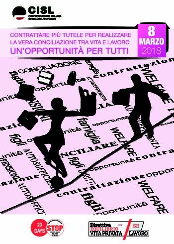 Donne: durante la giornata dell'8 marzo la Cisl organizza una raccolta fondi a favore delle donne vittime di violenza. Il ricavato andrà a favore della Casa Rifugio Fiordaliso di Cuneo