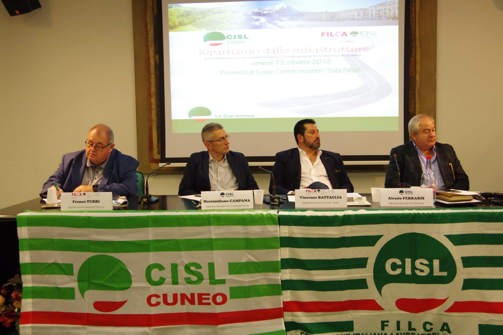 Convegno Cisl Cuneo su infrastrutture