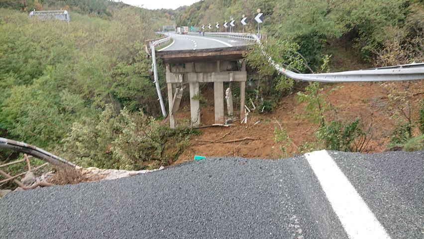 Il viadotto crollato