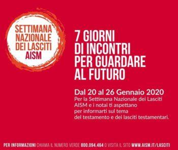 L'Aism e la Fnp Cisl Cuneo a favore della ricerca scientifica con i testamenti solidali – incontro informativo giovedì 23 gennaioa Saluzzo