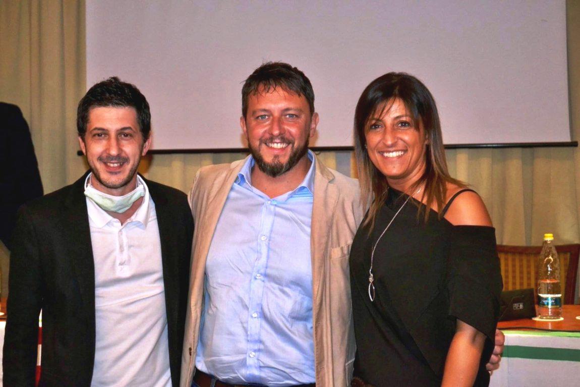 Il neo segretario generale Fisascat Cisl, Alessandro Lotti (al centro) con i componenti della segreteria Antonino Aloisio e Marisa Destito