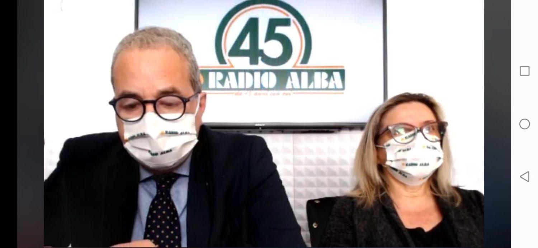 Enrico Solavagione e Daniela Belliardo a Radio Alba