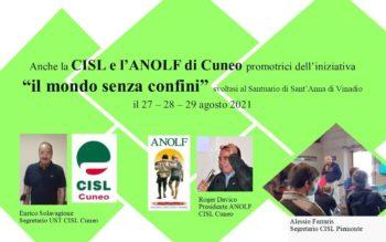 Anche la CISL e l'ANOLF di Cuneo promotrici di un'iniziativa senza confini.