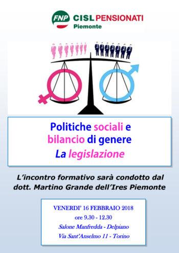Seminario sul Bilancio di genere