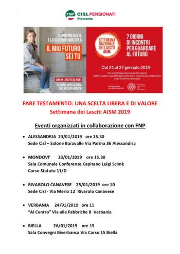 Fnp sostiene AISM per la Settimana dei Lasciti