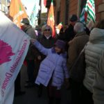 Pensionati in piazza a Biella