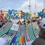 Il bandierone Alessandria-Asti