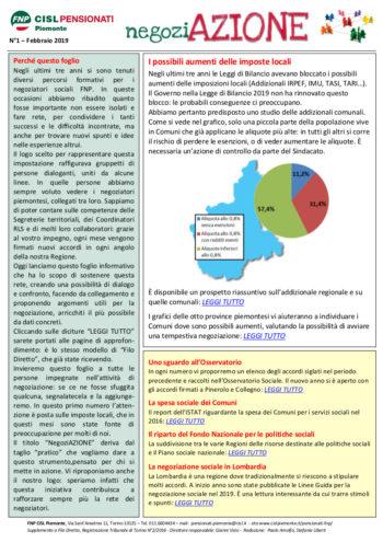 negoziAZIONE: un foglio informativo come supporto per chi si occupa di contrattazione sociale