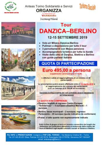 Anteas Servizi Torino organizza un tour da Danzica a Berlino a settembre