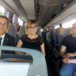 La neoeletta Segreteria di Cuneo sul pullman verso Roma