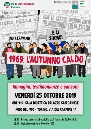 La Fnp Piemonte rievoca l'autunno caldo del '69