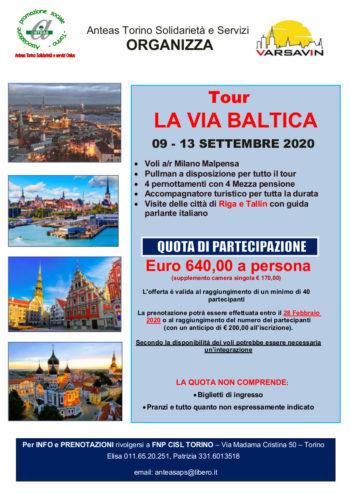 """Tour culturale e aggregativo """"La Via Baltica"""" proposto da Aps Torino"""