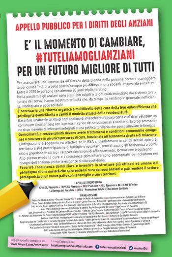 Inserzione Fnp-Spi-Uilp Piemonte su La Stampa 1° maggio #tuteliamoglianziani