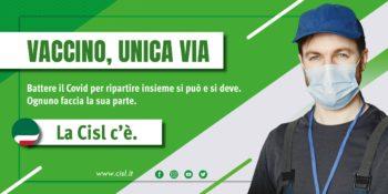 """La Fnp Piemonte sostiene la campagna Cisl """"Vaccino, unica via"""""""