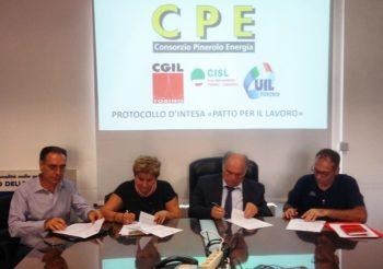 """A Pinerolo un """"Patto per  il Lavoro"""" tra Consorzio CPE e Cgil Cisl Uil"""