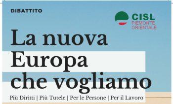 La nuova Europa che vogliamo: convegno Cisl a Novara il 21 maggio