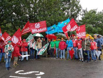 Settore lapideo: sciopero e presidio regionale di FenealUil, Filca-Cisl, Fillea-Cgil  a Mergozzo nel Verbano Cusio Ossola