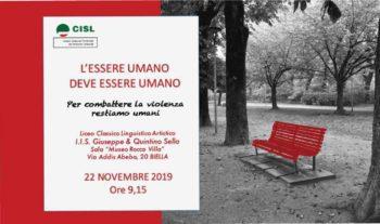 """""""L'essere umano deve essere umano"""": a Biella l'iniziativa della Cisl P.O. contro la violenza sulle donne"""