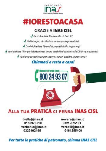 INAS CISL # IO RESTO A CASA