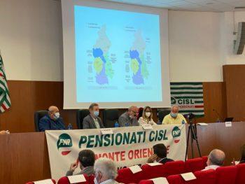 Ugazio e Ferraris al Consiglio generale della Fnp Cisl Piemonte Orientale con Piero Ragazzini