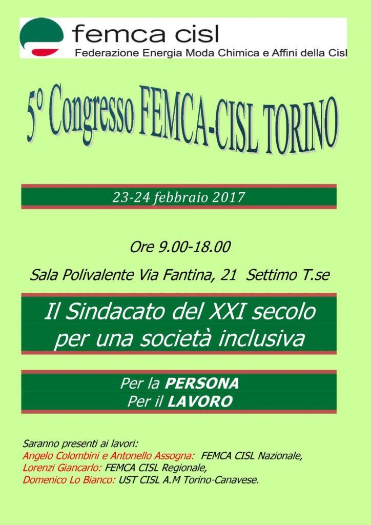 Congresso Femca Cisl Torino