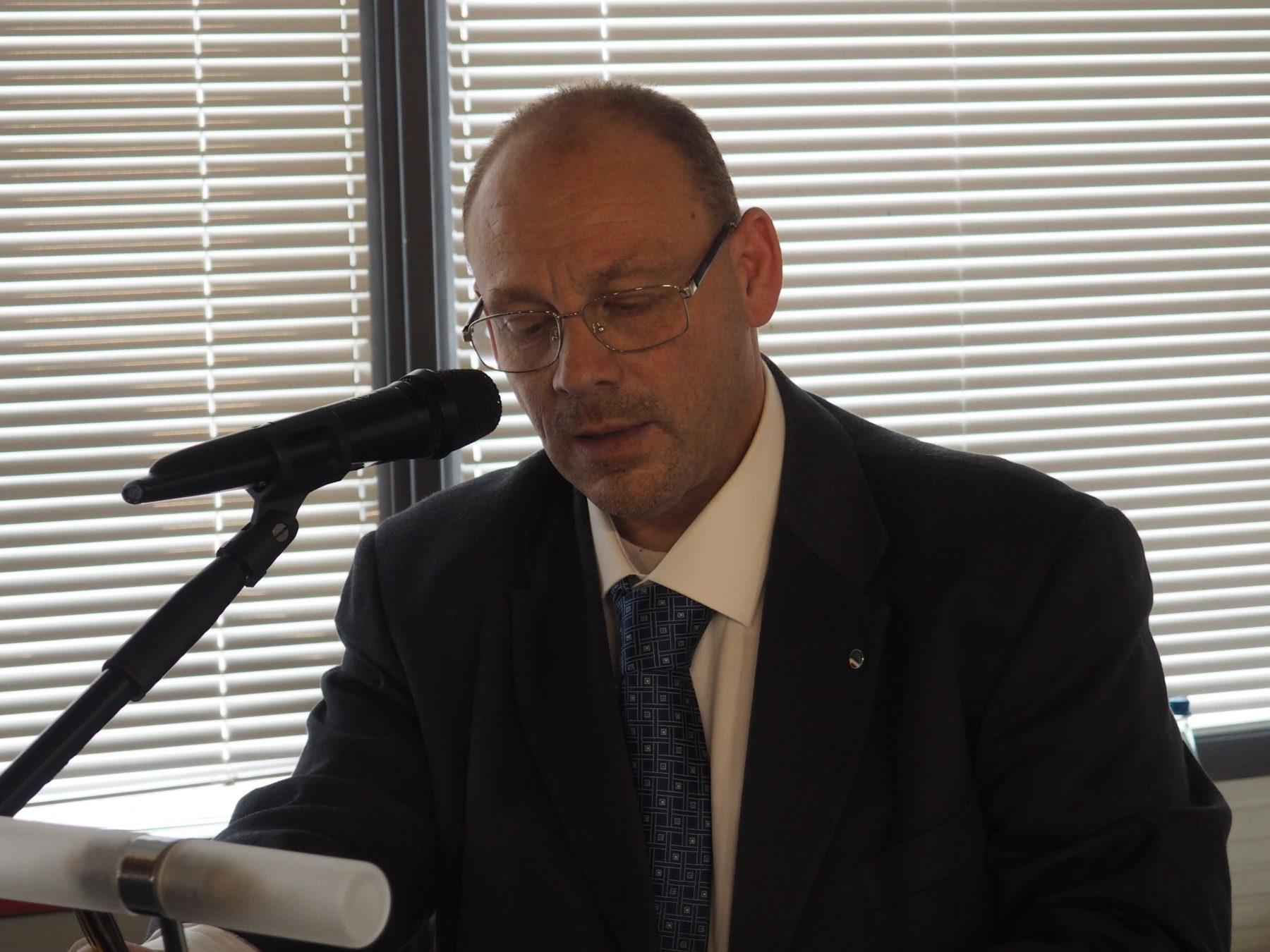 Il segretario generale Filca Cisl Torino-Canavese, Gerri Castelli, primo piano