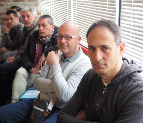 Un gruppo di delegati, primo piano