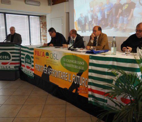 Il tavolo della presidenza (da sinistra: Lo Bianco, Castelli, Donnola e Turri) durante l'intervento di Paolo Faietta, commissario straordinario del governo sulla Torino-Lione, veduta