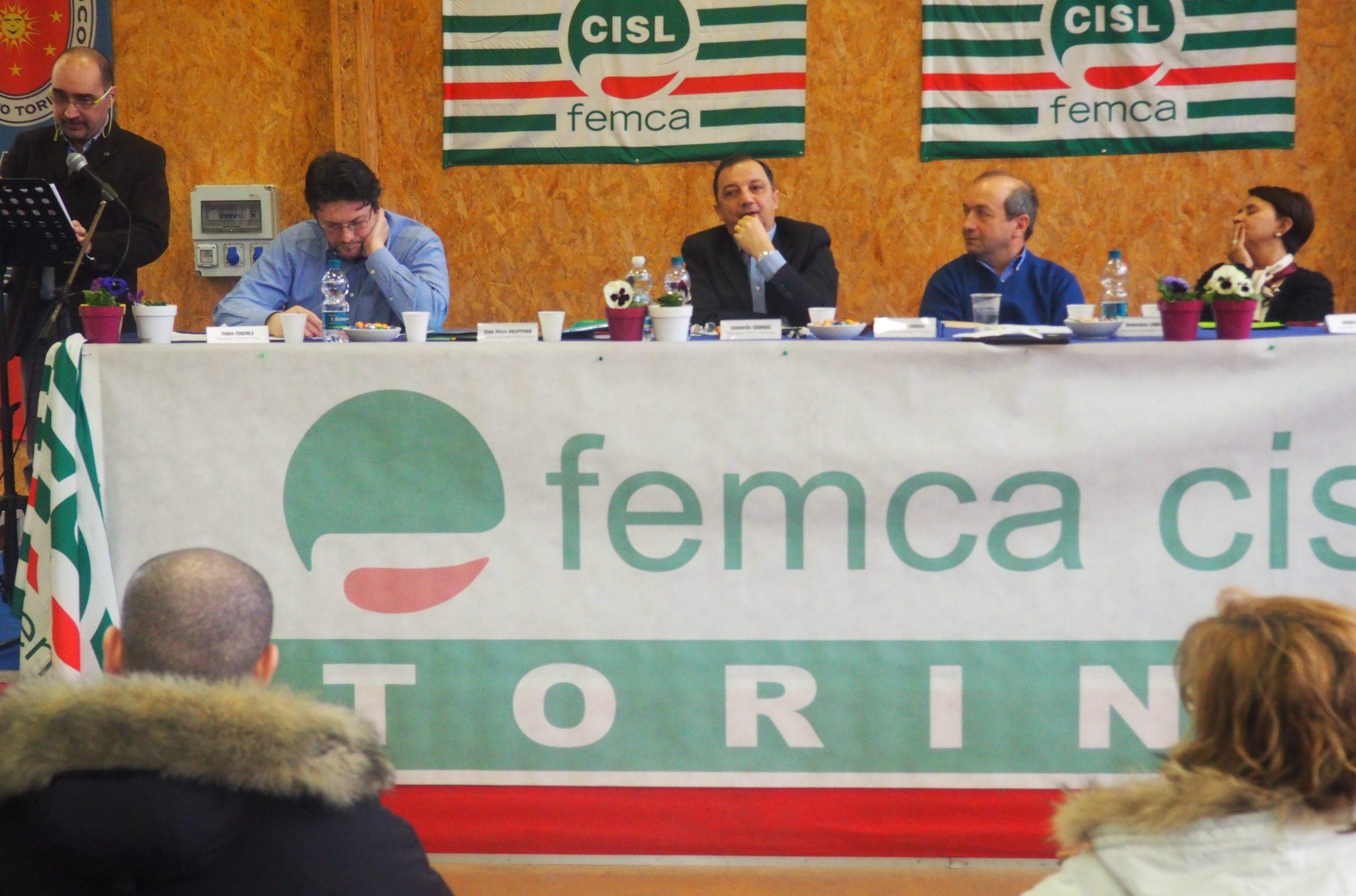 Il quinto congresso della Femca Torino a Settimo primo piano