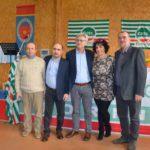 La nuova segreteria Femca Torino (Drappero, Filippone e Chairenza) con i segretari regionale e nazionale Lorenzi e Colombini primo piano