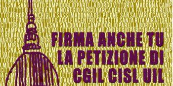 Prosegue la raccolta firme di Cgil Cisl Uil Torino per cambiare il bilancio del Comune. Sabato 10 giugno si replica con i gazebo in piazza e nei principali mercati della città