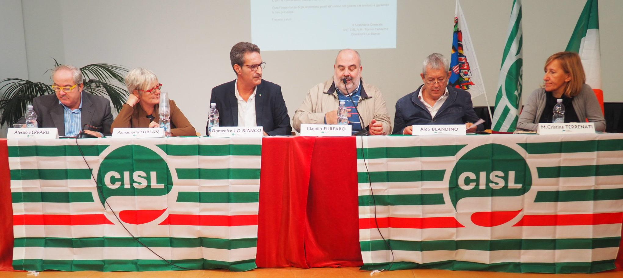 Consiglio generale Cisl Torino con Furlan primo piano