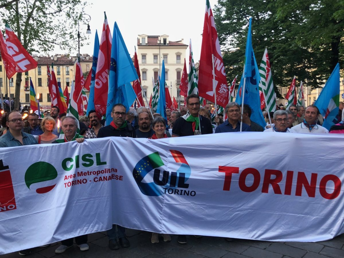 25 Aprile a Torino con Cgil Cisl Uil